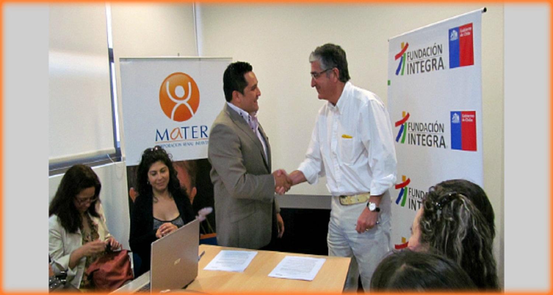 Nuevo convenio entre MATER y Fundación Integra