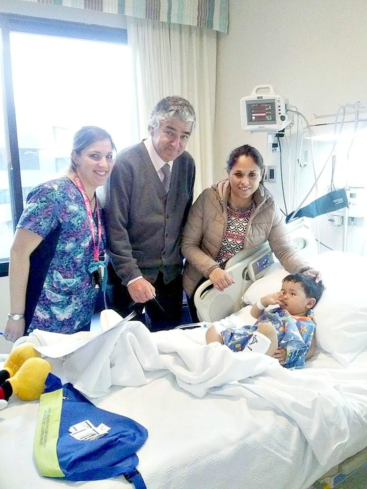 Gracias a una oportuna cirugía,Tomás tendrá una vida sana.