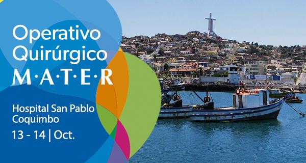 MATER y Hospital San Pablo confirman cuarto operativo quirúrgico en Coquimbo