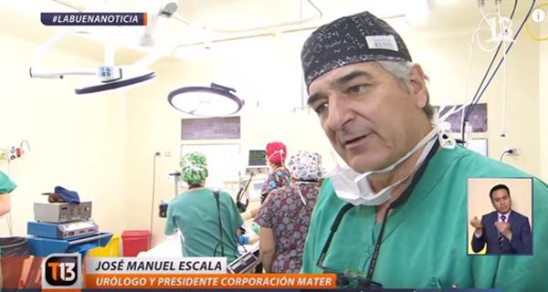 Canal 13 destaca nuestros operativos quirúrgicos